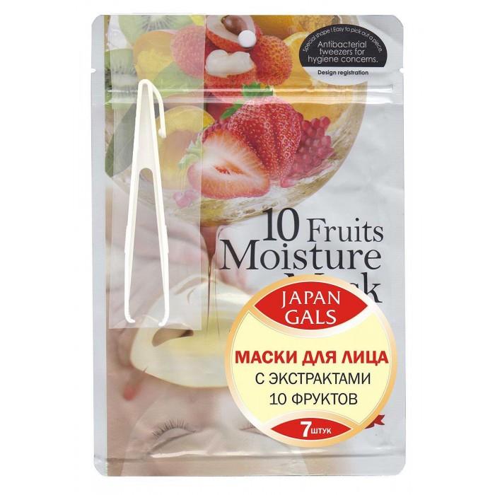 Картинка для Косметика для мамы Japan Gals Маска с экстрактом 10 фруктов Pure5 Essential 7 шт.