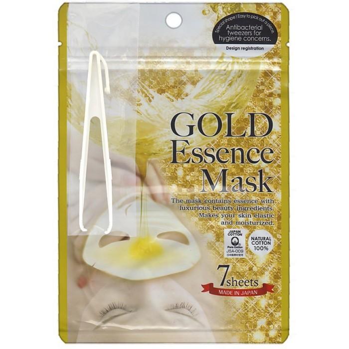 Косметика для мамы Japan Gals Маска с экстрактом золота Gold Essence Mask 7 шт. japan gals маска с экстрактами 10 фруктов pure5 essential 7 шт маска с экстрактами 10 фруктов pure5 essential 7 шт 7 шт