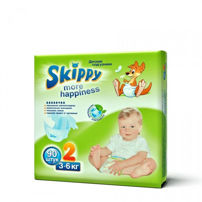 Подгузники Skippy Подгузники More Happiness р. 2 (3-6 кг) 90 шт. подгузники skippy подгузники more happiness р 3 4 9 кг 81 шт