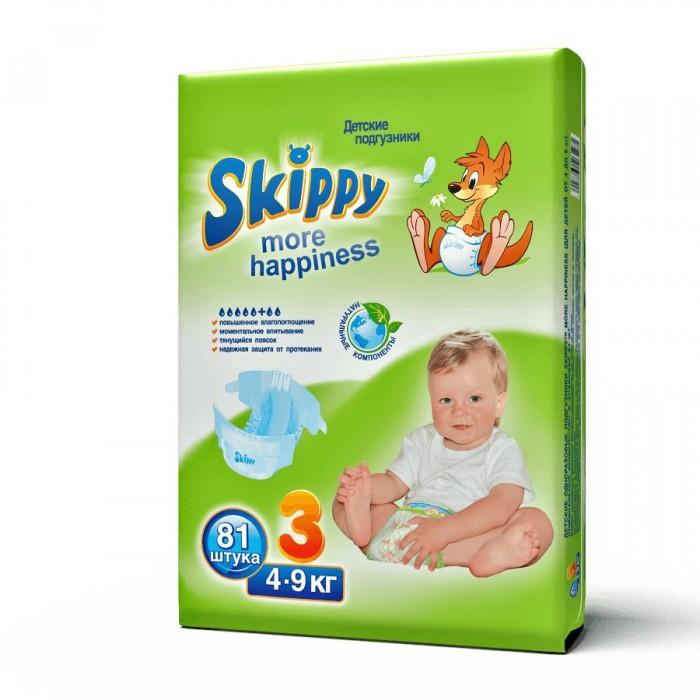 Подгузники Skippy Подгузники More Happiness р. 3 (4-9 кг) 81 шт. подгузники skippy premium р р 3 4 9 кг 84 шт