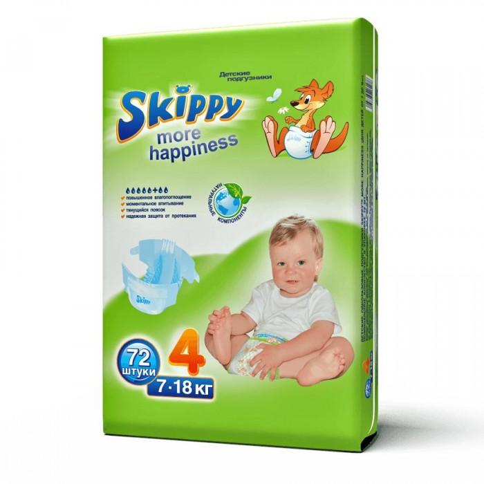 Подгузники Skippy Подгузники More Happiness р. 4 (7-18 кг) 72 шт. подгузники skippy подгузники more happiness р 3 4 9 кг 81 шт