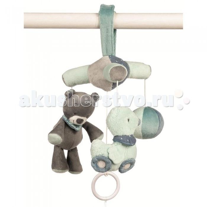 Мобили Nattou Jack, Jules & Nestor Слоник, Мишка, Утенок игрушка мягкая nattou jack jules nestor в ассорт слоник мишка утенок 843126