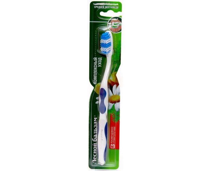 Гигиена полости рта Лесной Бальзам Зубная щетка Комплексный уход средней жесткости гигиена полости рта r o c s модельная зубная щетка средняя