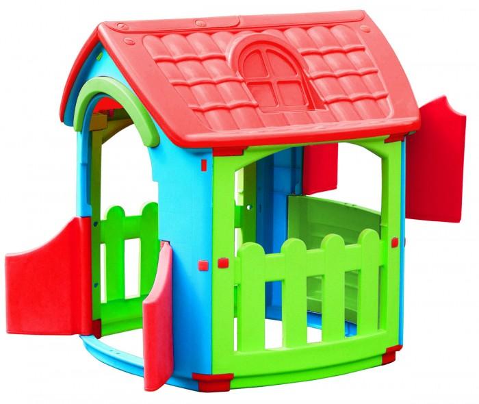 Palplay (Marian Plast) Игровой домик 667Игровой домик 667Удобный красивый вместительный домик для веселой игры. Отлично подойдет как для одного малыша, так и для коллективных игр. Домик можно использовать для помещения и улицы, он отлично впишется в саду на даче во время летнего загородного отдыха.  Предназначен для детей от 2х лет. - конструкция домика очень надёжная и устойчивая;  - вход с двумя дверками;  - три больших окошка в доме, одно со ставенками, и два на террасе. - домик легко собирается, детали соединяются и закрепляются специальными пластиковыми гайками, которые входят в комплект; - конструкция домика очень надёжная и устойчивая; - вход с двумя дверками; - три больших окошка в доме, одно со ставенками, и два на террасе.  Размер домика: 101x105x110,5 см Размер упаковки 112x92x20 см Вес: 12,47 кг, с упаковкой 15,35 кг.<br>