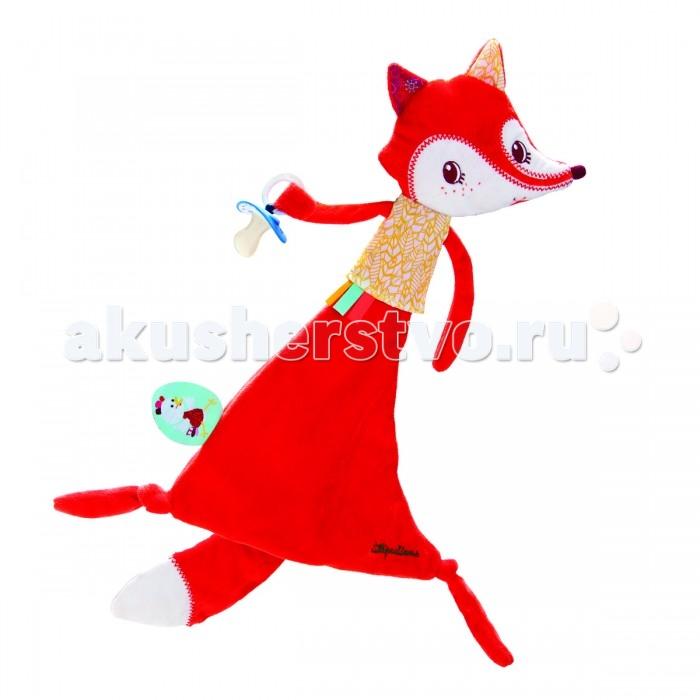 Комфортеры Lilliputiens Лиса Алиса игрушка-обнимашка с держателем для пустышки, Комфортеры