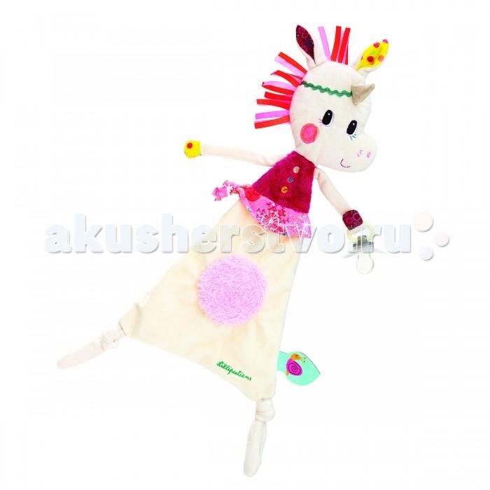 Комфортер Lilliputiens Единорожка Луиза игрушка-обнимашка с держателем для пустышки от Акушерство
