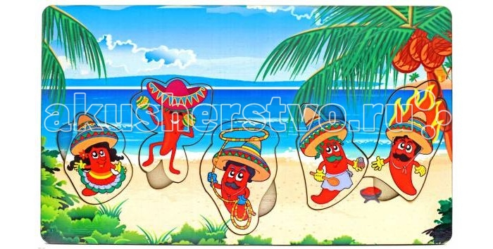Деревянные игрушки Фабрика Мастер игрушек Рамка-вкладка Мексика игрушка развивающая игрушка рамка вкладка паравозик ig0119