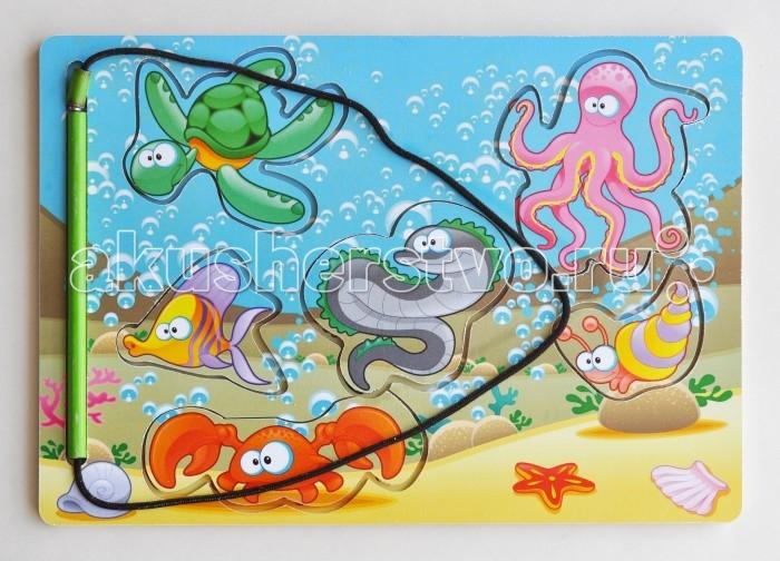 Деревянные игрушки Фабрика Мастер игрушек Рамка-вкладка Магнитная рыбалка 1 деревянные игрушки фабрика мастер игрушек рамка вкладка водоём