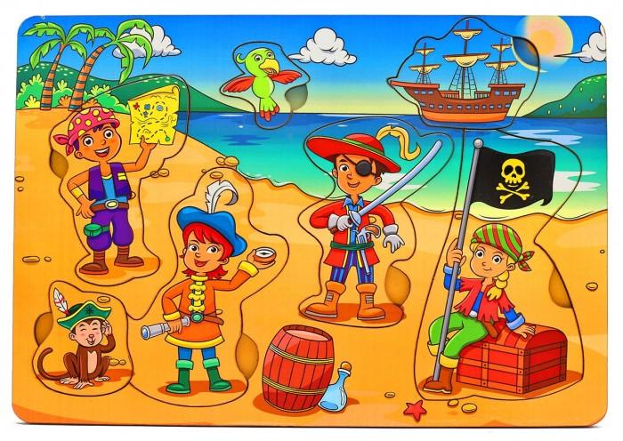 Деревянные игрушки Фабрика Мастер игрушек Рамка-вкладка Дети-пираты игрушка развивающая рамка вкладка транспорт