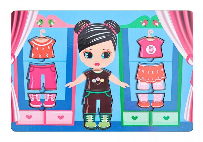 Деревянные игрушки Фабрика Мастер игрушек Рамка-вкладка Гардероб двойной женский гардероб