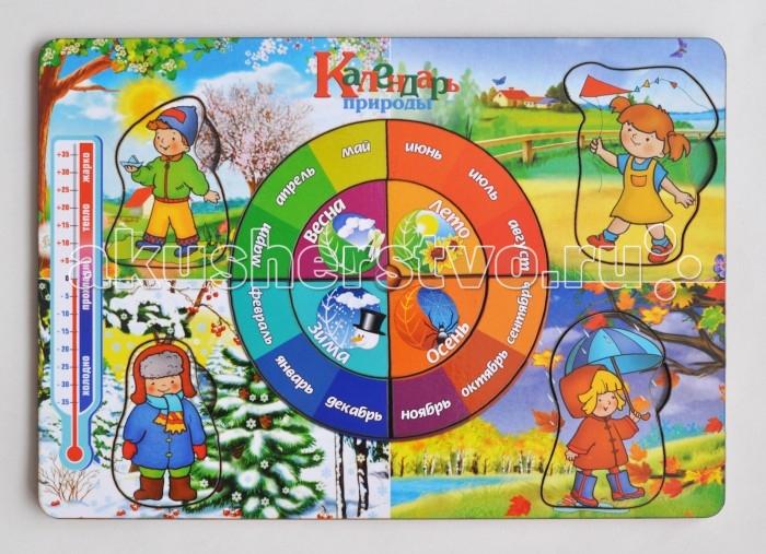 Деревянные игрушки Фабрика Мастер игрушек Рамка-вкладка Календарь природы игрушка развивающая рамка вкладка транспорт