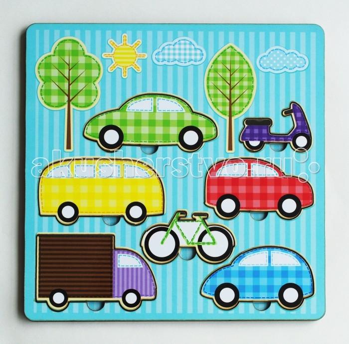 Деревянные игрушки Фабрика Мастер игрушек Рамка-вкладка Средства передвижения игрушка развивающая рамка вкладка транспорт