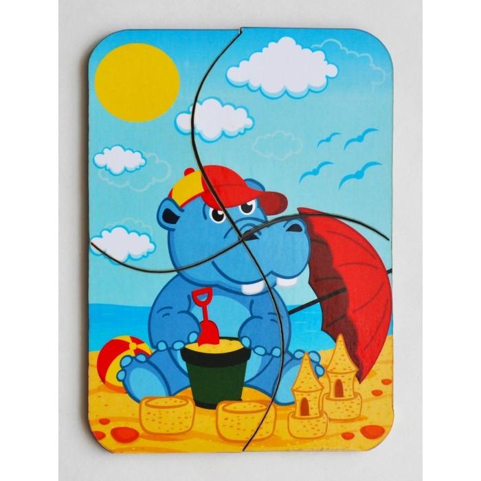 Фото - Деревянные игрушки Фабрика Мастер игрушек Мини пазл Бегемотик деревянные игрушки фабрика мастер игрушек пазл жираф ig0063