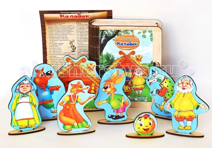 Деревянные игрушки Фабрика Мастер игрушек Настольный театр Колобок колобок панорама