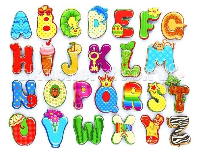 Деревянные игрушки Фабрика Мастер игрушек Алфавит английский Веселый пазлы бомик русский алфавит россыпью 63 буквы