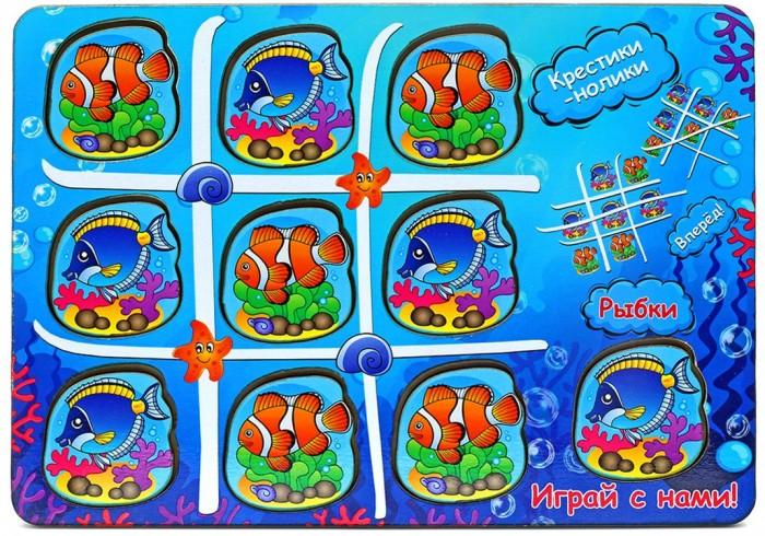 Деревянные игрушки Фабрика Мастер игрушек Крестики-нолики Водный мир