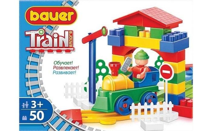 Конструкторы Bauer Железная дорога 50 элементов конструкторы bauer железная дорога 50 элементов