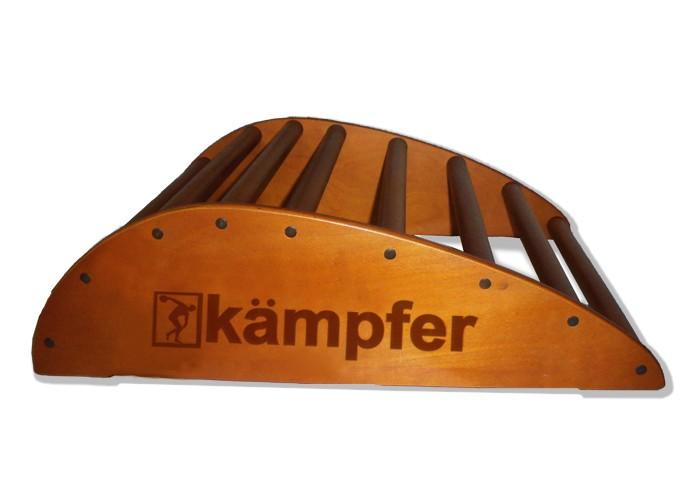 Kampfer Домашний спортивный тренажер Posture FloorДомашний спортивный тренажер Posture FloorKampfer Домашний спортивный тренажер Posture Floor для улучшения осанки.  Правильная осанка - сделает Ваше тело красивым, формы фигуры приобретут гармонию походка станет привлекательной, обретет легкость и грациозность - достойные восхищения.  Особенности: Конструкция из натурального дерева, используется итальянское покрытие Coatings Italia S.p.a. Места креплений болтов закрыты декоративными пластиковыми заглушками Рекомендован для установки в домашних условиях и в детских учреждениях. Компактная разборная конструкция, которая позволяет перевозить его даже в легковом автомобиле. Тренажерный комплекс Kampfer Posture предназначен для занятий физическими упражнениями, позволяющими расслаблять, разминать и массировать мышцы спины в домашних условиях. Предназначен для улучшения осанки, поэтому в первую очередь необходимо привлечь к занятиям подростков, и даже маленьких детей. Им неприменно понравиться занятия на тренажере под Вашим руководством и присмотром. Подходит для детей в возрасте от 4 лет и рекомендован для установки в домашних условиях и в детских учреждениях. Конструкция была выполнена из натурального дерева, все края деталей немного скруглены, места креплений болтов закрыты декоративными пластиковыми заглушками обеспечивая большую безопасность для ребенка. Крепление: может устанавливаться на любую ровную поверхность пола. Устойчивость тренажера обеспечивает строение конструкции, а относительно небольшие вес и размеры позволяют с легкостью передвигать тренажер с места на место, и убирать на хранение.  Размеры(общие): 70 х 20 х 53 см  Высота от пола: 20 см Длина по нижним-упорам: 70 см Ширина по нижним-упорам: 53 см Длина ступеньки-перекладины: 50 см Диаметр ступеньки-перекладины: 3,5 см Допустимая нагрузка: 100 кг<br>