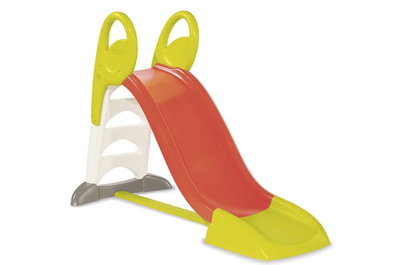 Горка Smoby KSKSГорка Smoby KS Средняя горка с длиной ската 150 см из сверхпрочного пластика. Удобная зона приземления после ската.  Особенности: • Удобные поручни для подъема • Нескользящие ступени • Подключение воды • Антиультрафиолетовая обработка   Размер игрушки: 159,5*68,5*100,5 см Размер упаковки: Длина: 118,5 см Ширина: 24,5 см Высота: 43,8 см Производство: Франция  Возраст: 2+<br>