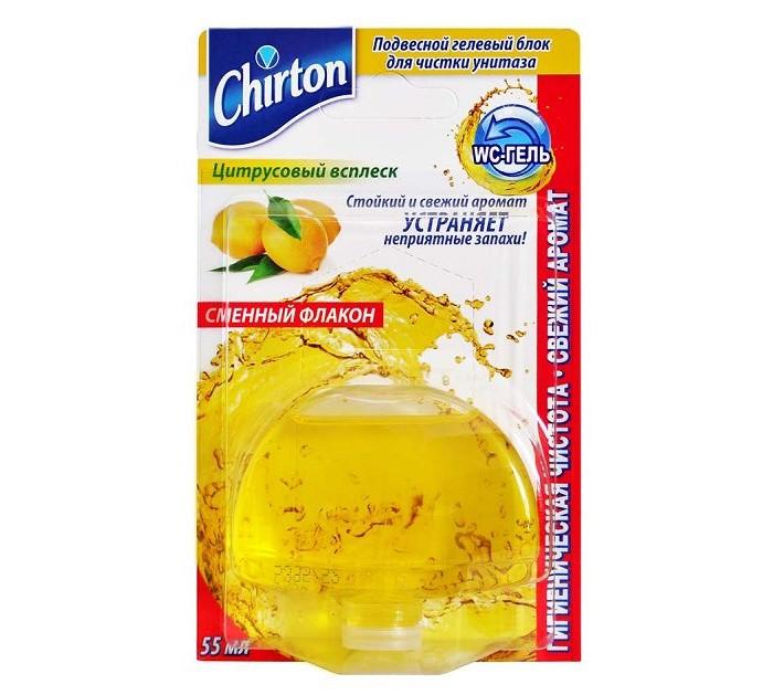 Бытовая химия Chirton Подвесной гелевый блок для чистки унитаза Цитрусовый Всплеск 55 мл сменный запаснойблокдляунитазаморская