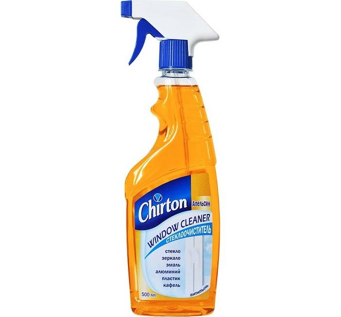 Бытовая химия Chirton Стеклоочиститель с распылителем Апельсин 500 мл бытовая химия арнест средство для стёкол морской бриз 3 в 1 500 мл