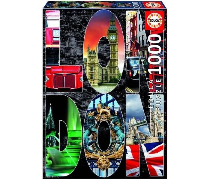 Пазлы Educa Пазл Лондон коллаж 1000 элементов пазл 73 5 x 48 8 1000 элементов printio сад земных наслаждений