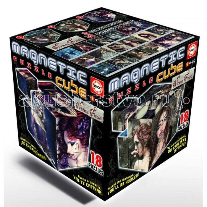 цены  Развивающие игрушки Educa Магнитные Кубики - Готика 27 кубиков 18 пазлов