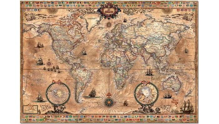 Пазлы Educa Пазл Античная карта мира 1000 элементов