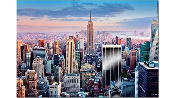 Пазлы Educa Пазл Манхеттен Нью-Йорк 1000 элементов пазлы educa пазл нью йорк коллаж 1000 элементов