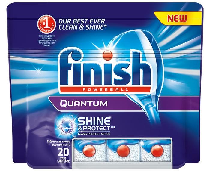 Бытовая химия Calgon Calgonit finish Quantum Таблетки для посудомоечных машин 20 шт. бытовая химия snowter таблетки для посудомоечных машин 16 х 20 г