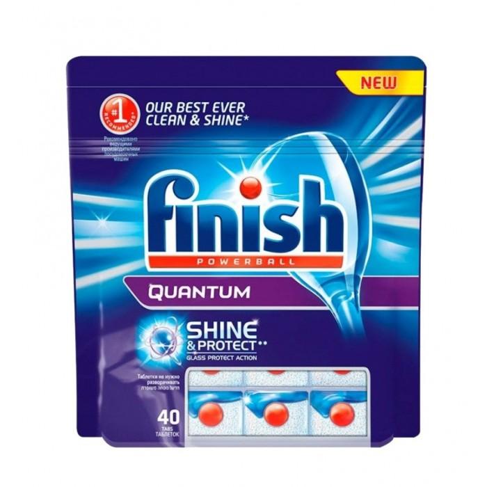 Бытовая химия Calgon Calgonit finish Quantum Таблетки для посудомоечных машин 40 шт. активные таблетки для посудомоечных машин bravix geschirr reiniger 40 шт х 20 г