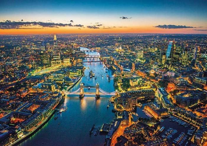 Пазлы Educa Пазл Лондон с высоты птичьего полета 1500 элементов пазлы educa пазл манхеттен