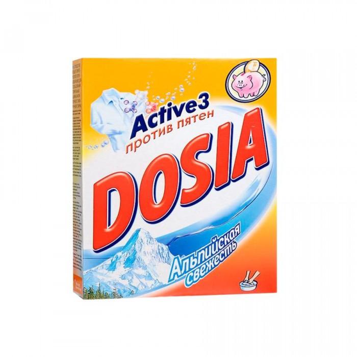 Бытовая химия Dosia Стиральный порошок Active 3 Ручная стирка Альпийская свежесть 365 г стиральный порошок topperr 3205 active
