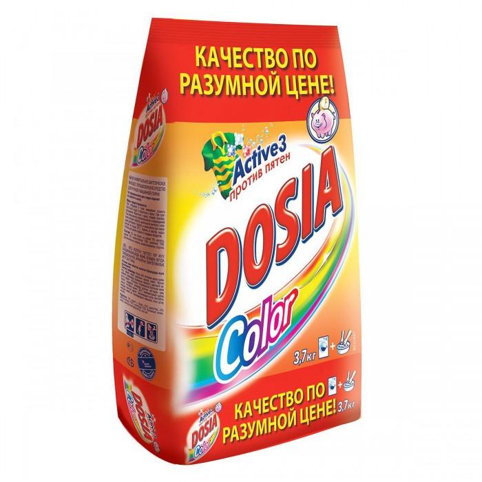 Бытовая химия Dosia Стиральный порошок Color Active 3 Против пятен 3,7 кг стиральный порошок topperr 3205 active