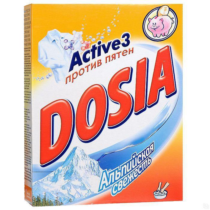 Бытовая химия Dosia Стиральный порошок Active 3 Автомат Альпийская свежесть 400 г стиральный порошок миф 3в1 автомат свежесть ландышей 400 г