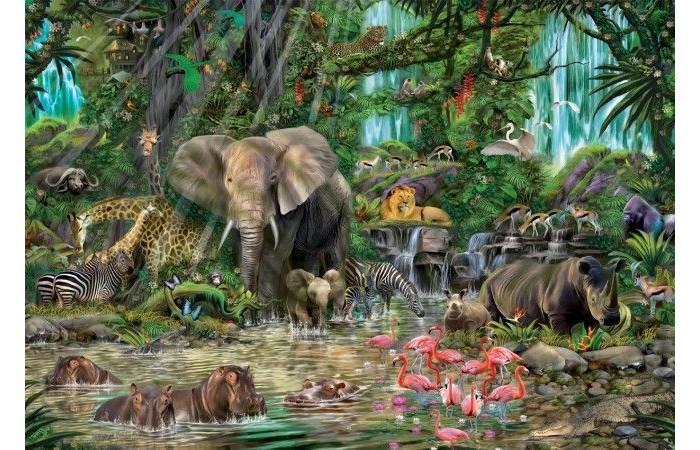 Пазлы Educa Пазл Африканские джунгли 2000 элементов пазлы educa пазл манхеттен