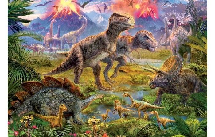 Пазлы Educa Пазл Встреча динозавров 500 элементов
