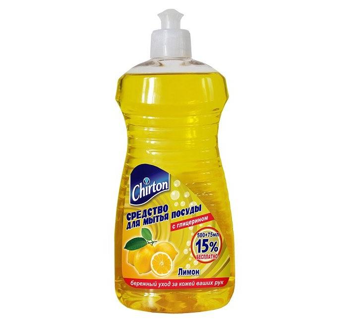 где купить Бытовая химия Chirton Средство для мытья посуды Лимон дешево
