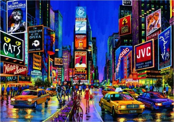 Пазлы Educa Пазл Times Square Нью Йорк 1000 элементов пазлы educa пазл манхеттен