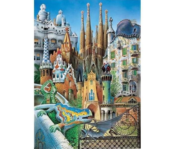 Пазлы Educa Пазл Коллаж миниатюра 1000 элементов пазлы educa пазл леди в голубом кетто 1000 элементов