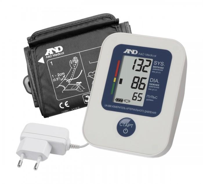 A&amp;D Тонометр автоматический UA-888AC I02123Тонометр автоматический UA-888AC I02123A&D Тонометр UA-888AC автоматический.  Особенности: Тонометр AND UA-888AC предназначен для измерения и контроля артериального кровяного давления и пульса в плечевой артерии у взрослых.  При помощи автоматического прибора для измерения давления крови вы сможете быстро и без посторонней помощи в бытовых условиях провести измерение давления и пульса и сохранить данные, а так же вывести ранее сохраненные данные и средние значения.  Манжета Opti Cuff 23-37 см Память на 30 измерений Расчет среднего давления Цветная шкала ВОЗ Сетевой адаптер Трехстрочный дисплей<br>