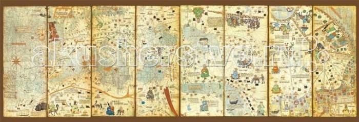 Educa Пазл Карта мира 1375 год Авраам Крескес панорама 3000 элементовПазл Карта мира 1375 год Авраам Крескес панорама 3000 элементовEduca Пазл Карта мира 1375 год Авраам Крескес панорама 3000 элементов 16355  Пазл Educa Карта мира 1375 года непременно придется по душе вам и вашему ребенку. Собрав этот пазл, включающий в себя 3000 элементов, вы получите оригинальный постер с изображением панорамной карты мира 1375 года.  Пазл выполнен из высококачественных материалов, что обеспечивает идеальное прилегание деталей. Компания Educa имеет уникальный сервис: бесплатная доставка в любую точку мира потерянной детали.   Пазл - великолепная игра для семейного досуга. Сегодня собирание пазлов стало особенно популярным, главным образом, благодаря своей многообразной тематике, способной удовлетворить самый взыскательный вкус. А для детей это не только интересно, но и полезно. Собирание пазла развивает мелкую моторику у ребенка, тренирует наблюдательность, логическое мышление, знакомит с окружающим миром, с цветом и разнообразными формами.  Размер собранного пазла: - 156 x 53,5 см.<br>