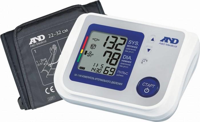A&amp;D Тонометр автоматический UA-1100Тонометр автоматический UA-1100A&D Тонометр UA-1100 автоматический.  Особенности: Тонометр предназначен для измерения и контроля артериального кровяного давления и пульса в плечевой артерии у взрослых.  При помощи автоматического прибора для измерения давления крови вы сможете быстро и без посторонней помощи в бытовых условиях провести измерение давления и пульса и сохранить данные, а так же вывести ранее сохраненные данные и средние значения.  Манжета от 23 до 37 см Индикатор аритмии Гарантия 10 лет Память на 90 измерений Индикатор положения манжеты Сетевой адаптер в комплекте Индикатор движения во время измерения Расчет среднего давления Календарь и часы Большой трехстрочный дисплей<br>