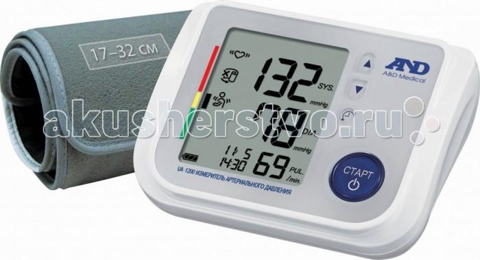 A&amp;D Тонометр автоматический UA-1200Тонометр автоматический UA-1200A&D Тонометр UA-1200 автоматический.  Особенности: Тонометр предназначен для измерения и контроля артериального кровяного давления и пульса в плечевой артерии у взрослых.  При помощи автоматического прибора для измерения давления крови вы сможете быстро и без посторонней помощи в бытовых условиях провести измерение давления и пульса и сохранить данные, а так же вывести ранее сохраненные данные и средние значения.  Манжета от 17 до 32 см Индикатор аритмии Гарантия 10 лет Память на 90 измерений Индикатор положения манжеты Сетевой адаптер в комплекте Индикатор движения во время измерения Расчет среднего давления Календарь и часы Большой трехстрочный дисплей<br>