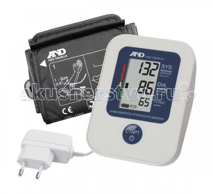A&amp;D Тонометр автоматический UA-888AC I01001Тонометр автоматический UA-888AC I01001A&D Тонометр UA-888AC автоматический.  Особенности: Тонометр AND UA-888AC предназначен для измерения и контроля артериального кровяного давления и пульса в плечевой артерии у взрослых.  При помощи автоматического прибора для измерения давления крови вы сможете быстро и без посторонней помощи в бытовых условиях провести измерение давления и пульса и сохранить данные, а так же вывести ранее сохраненные данные и средние значения.  Манжета: 22-32 см Память на 30 измерений Индикатор аритмии Цветная шкала ВОЗ Гарантия 10 лет Трехстрочный дисплей Расчет среднего давления Сетовой адаптер<br>