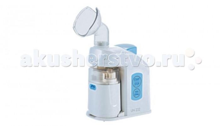 A&amp;D Ингалятор ультразвуковой UN-232Ингалятор ультразвуковой UN-232A&D Ингалятор ультразвуковой UN-232  предназначен для профилактики заболеваний дыхательных путей и легких, снижения боли и дискомфорта при воспалении горла и насморке аэрозолями водных растворов.  Особенности: Оптимальная температура пара: ~ 43°С комфортна и не приводит к ожогам слизистой носа или рта. Возможность регулировки скорости подачи пара позволяет воздействовать на различные отделы дыхательных путей. В комплекте универсальная маска для взрослых и детей Подогрев аэрозоля до 43°С 2 скорости распыления:  - режим N0RMAL ~ 1,0 мл/мин  - режим HIGH ~ 1,8 мл/мин Автоматический контроль времени ингаляции: встроенный таймер на 5 минут Световая индикация режимов работы Низкий уровень шума (45 дБ на расстоянии 1 м) Удобная ручка для переноски прибора Функция автоматического отключения для защиты компрессора от перегрева Произведен в соответствии с Европейским стандартом EN 13544-1 и Международной Директивой 93/42/ЕЕС о медицинских изделиях Стильный и удобный кейс для хранения и переноски Средний размер частиц аэрозоля (MMAD): 5 мкм Скорость распыления: 1,0 - 1,8 мл/мин Уровень шума: ~ 45 дб Потребляемая мощность: 170 Вт Источник питания: 220 В  Комплект поставки: основной блок, универсальная респираторная маска, картридж, емкость для лекарства.<br>
