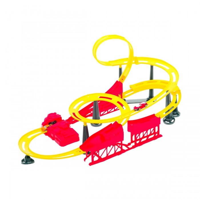 HTI Трек ТайфунТрек ТайфунHTI Трек Тайфун 1416002.00  Эта специальная пусковая установка позволяет отправлять автомобили по замкнутым извилистым трассам, возвращая их обратно на старт. Развивает мелкую моторику, реакцию и координацию движений. Длина трассы (м): 5,1  Вкомплекте: 2 инерционные машинки<br>
