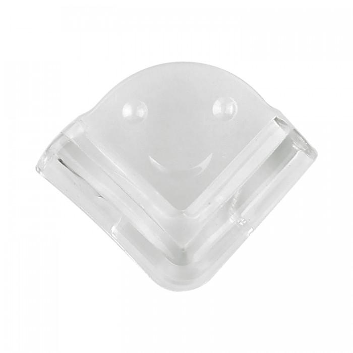 Блокирующие устройства Lubby Накладки на углы прозрачные матовые прямоугольные 4 шт. блокирующие устройства lubby фиксатор для двери лапка