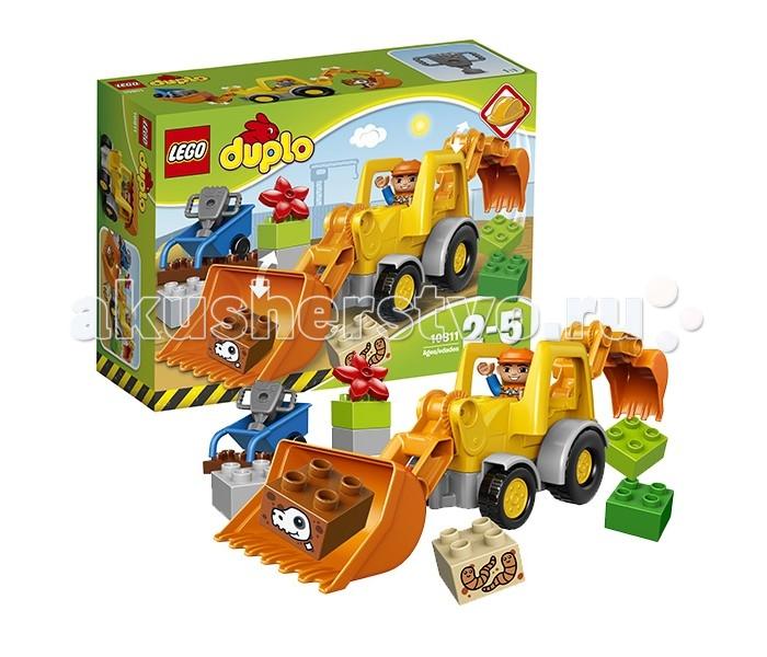 Lego Lego Duplo 10811 Лего Дупло Экскаватор-погрузчик конструктор дупло грузовик и гусеничный экскаватор