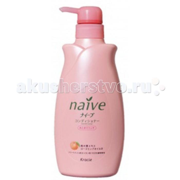 "Kracie Naive"" Кондиционер для волос с экстрактом Персика флакон 550 мл"